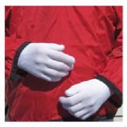 "Stretchy polyester gloves liners for wicking hand sweat and added warmth when worn under ""outer"" gloves."